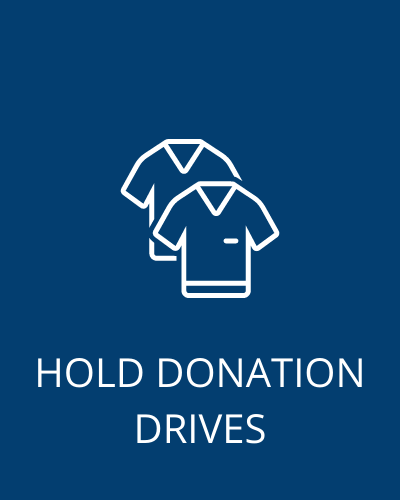hold donation drives